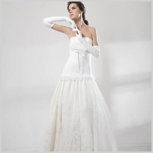 innovias | vestido de novia 4724 de innovias palabra de honor falda