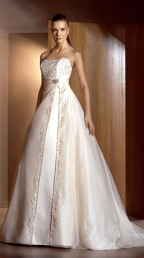innovias | vestido de novia 805 de innovias bordado hilo de plata