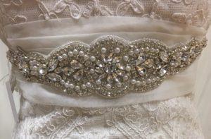 Cinturón joya de novia 2846