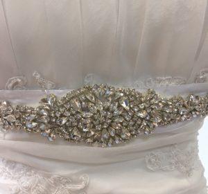 Cinturón joya de novia 8031