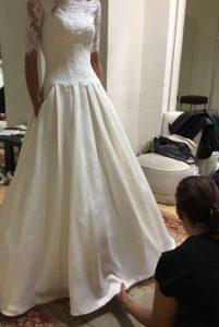 arreglos-petunia1-201x300 Pruebas de arreglos del vestido de novia