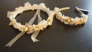 Corona y diadema de flores niñas cortejo Innovias