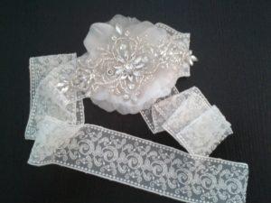 Cinta vintage de novia 8437