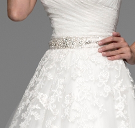 Cinturilla de novia de pedrería modelo 8488