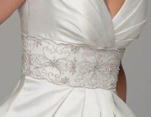 Cinturilla de novia en plata Avior