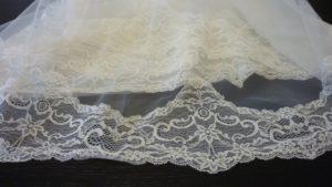 Velo de novia tul de seda bordado V672