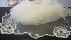 Velo de novia bordado a mano 705