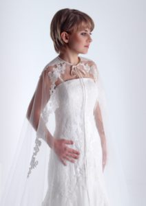 Capa velo de novia encaje rebrode